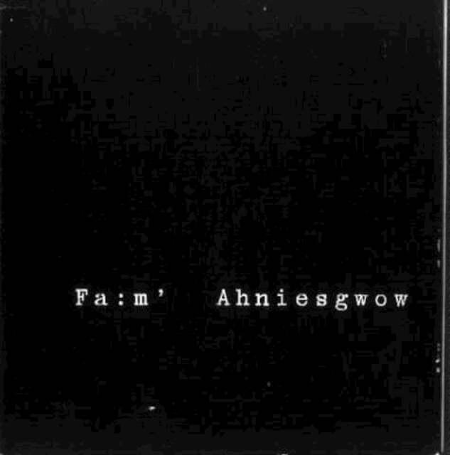 FA:M' AHNIESGWOW - Hans-Günther Helms