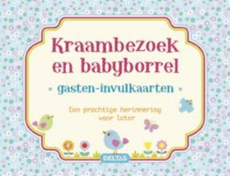 Gasten-invulkaarten Kraambezoek en babyborrel (blauw) - ZNU
